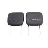 VE HSV Leather Head Rests With Clubsport Logo