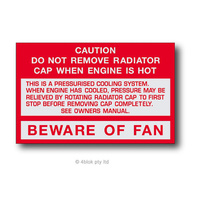 HDT Beware Of Fan VB-VL - 90014