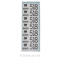 HDT 518 Wiring Decal - 50025