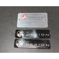 Holden Commodore VT VX VY VZ Holden by design I.D Tag & Window Stickers Black HBD