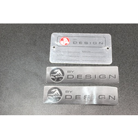 Holden Commodore VT VX VY VZ Holden By design I.D Tag & Window Stickers Grey HBD