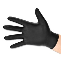 100Pcs Disposable Gloves Black Nitrile - Large