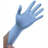 100Pcs Disposable Gloves Blue Nitrile - Large