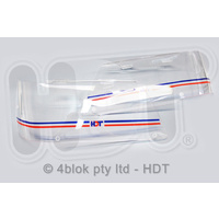 HDT VH VK Head Light Protector Covers Blue & Red - 40157HKBLU