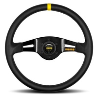 Mod.03 Black Leather 350 Steering Wheel