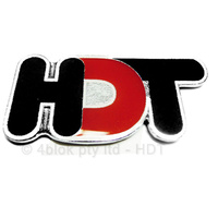 HDT Logo Badge 70mm Red & Black - 40259A