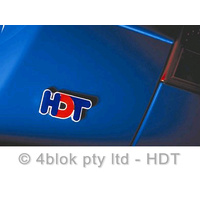 HDT Logo Badge 70mm Red & Blue - 40259B