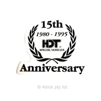 HDT 15th Anniversary Decal - Black