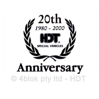 HDT 20th Anniversary Decal - Black