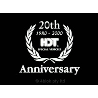 HDT 20th Anniversary Decal - Silver