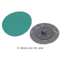 PTW Tools Abrasive Discs Zirconia 1/2 Turn Lock 75mm P60 Grit 10 Pack MG-SP75Z60