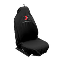 HDT Seat Cover Black with Black & Red Logo