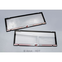 HDT Number Plate Frames Black & Red - HDTNPFREDSTD