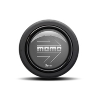 Arrow Matte Black (Round Lip) Horn Button