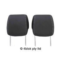 VE Front Leather Head Rest Pair Black NOS